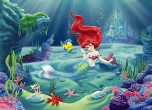 Mermaid Wall Murals Wall Mural Photo Wallpaper Ariel The Little Mermaid