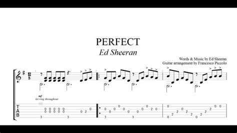 ed sheeran perfect guitar fingerstyle fingerstyle guitar tab ed sheeran perfect from hits