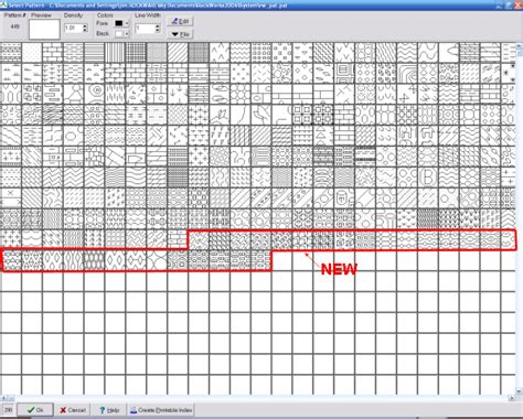 historical pattern library rockworks revision history