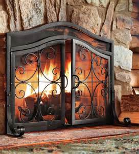 fireplace screens with doors small crest fireplace screen with doors ebay