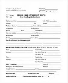 Child Care Enrollment Form Template by Sle Registration Form 21 Free Documents In Pdf