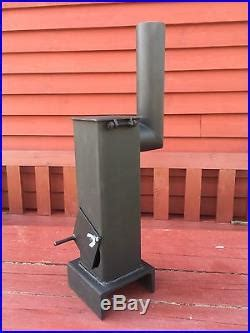 diy miniature wood burner stove heater garage shed