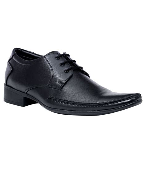 bata black leather lace formal shoes for price in