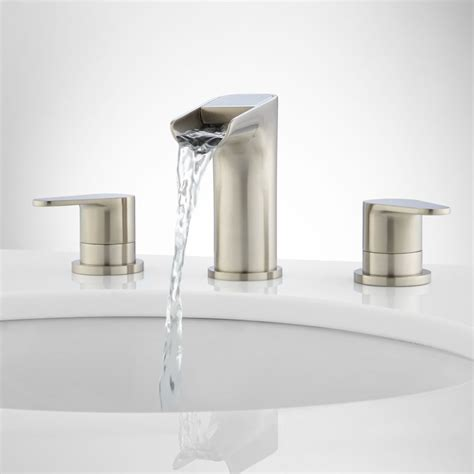 brushed nickel waterfall bathroom faucet innovative waterfall bathroom faucet brushed nickel in