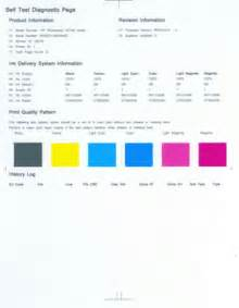print test page hp photosmart 8200 and d7100 printers series cleaning