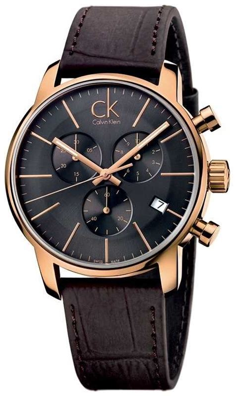Ck Ck099 Brown Rosegold calvin klein mens gold black k2g276g3