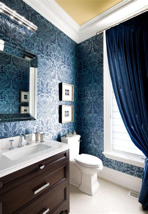 fabulous navy blue wallpaper  walls  velvet drapes