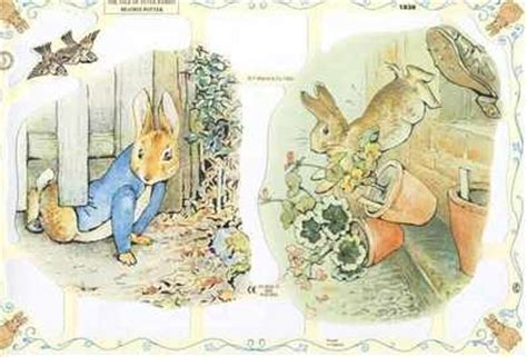 Beatrix Potter Decoupage - beatrix potter rabbit mr mcgregor from a collection
