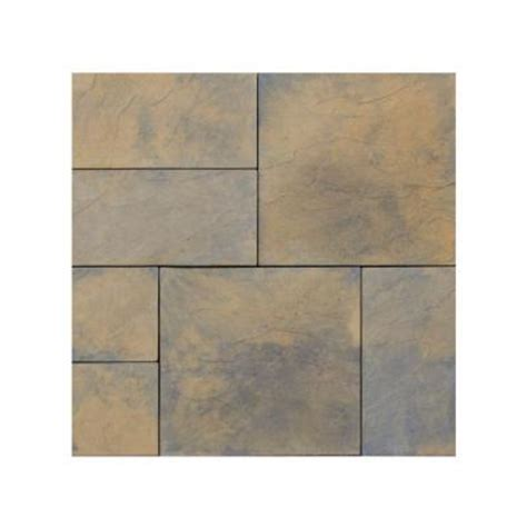 Patio Pavers Home Depot Nantucket Pavers Patio On A Pallet 12 In X 24 In And 24 In X 24 In Variegated