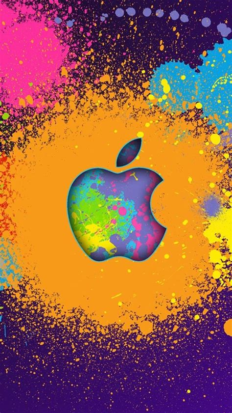 wallpaper iphone 5 hd apple color painting apple iphone 5 hd wallpapers