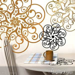 Metallic Wall Stickers Doily Wall Decal Art Metallic Copper Amp Gold Vinyl Wall