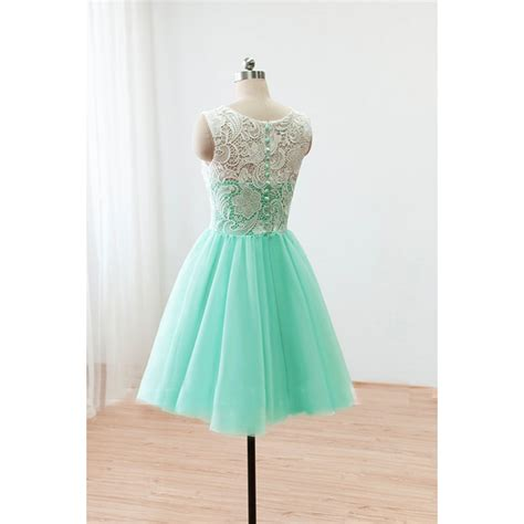 Mint Green Bridesmaid Dress by Lace Prom Dresses 2016 Gown Mint Green