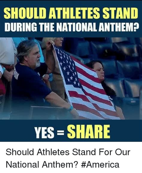 What Does Memes Stand For - should athletes stand during the national anthem yes