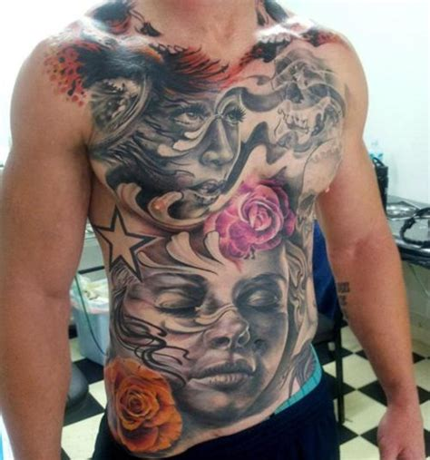 full chest piece tattoo designs designs chest