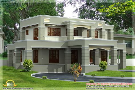 Two Story Home Designs two floor houses with 3rd floor serving as a roof deck