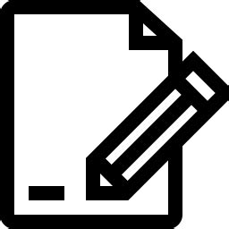 Edit Document Icon Outline - Icon Shop - Download free ...