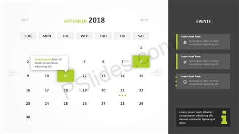 calendar layout powerpoint free 2018 calendar powerpoint template pslides