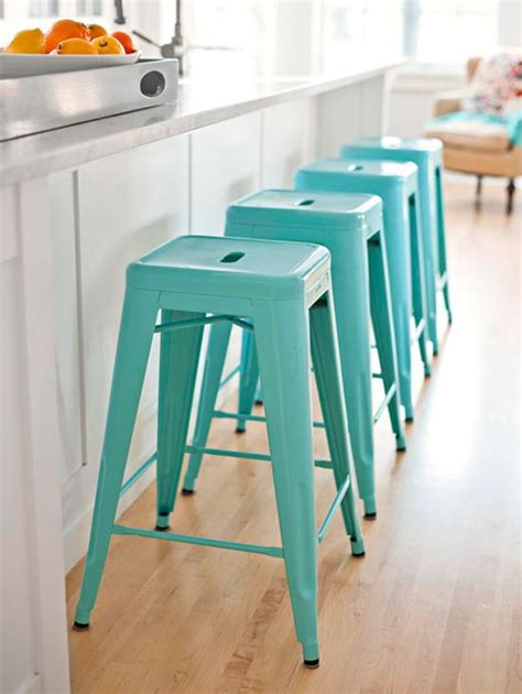 Blue Bar Stools Kitchen Furniture Bhg Centsational Style