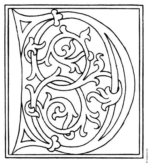 fancy letter d coloring page fancy letter d clip art 29