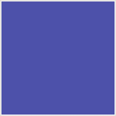 bluish purple color 4c50a9 hex color rgb 76 80 169 blue blue violet