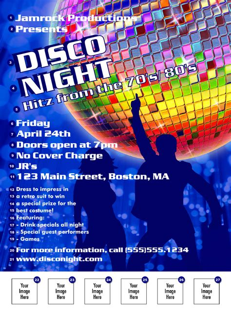 template flyer disco party disco flyer ticketprinting com