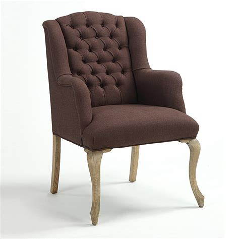 maison tufted arm dining chair dining chairs