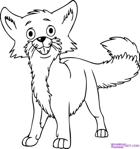 cartoon fox coloring page free coloring pages of fox drawings