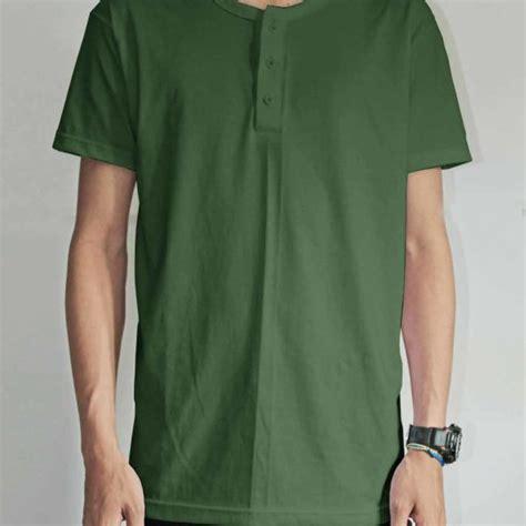 Mck Kaos Polos Oneck Hijau Army toko jual grosir kaos distro onb01 hijau army murah