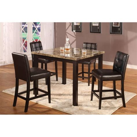 Counter Height Dining Room Sets Cheap 5pc Artificial Marble Top Counter Height Dinette
