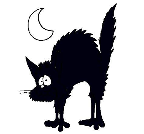 imagenes en negro de halloween dibujo de gato asustado pintado por gatonegro en dibujos