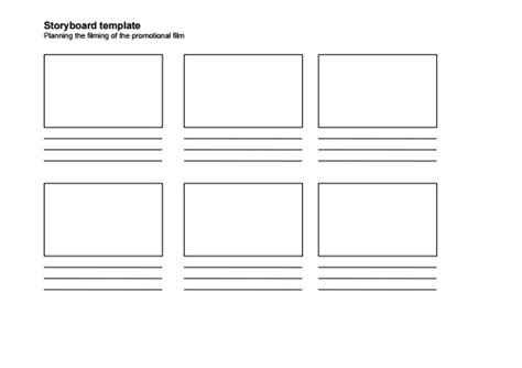 storyboard template 6 boxes 10 storyboard template exles templates assistant