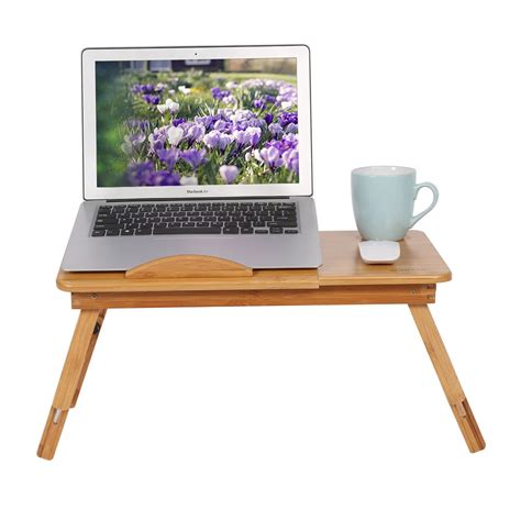 Sofa Laptop Desk Bamboo Foldable Laptop Desk Bed Sofa Tray Stand Table With Vents Ebay