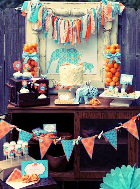 boy baby shower elephant theme party decor pinterest little peanut baby shower elephant theme orange blue