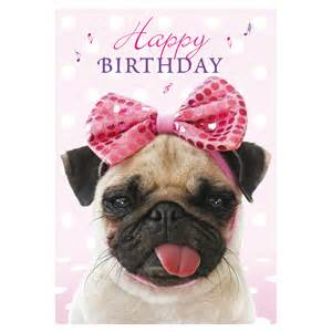 pug birthday card breeds picture