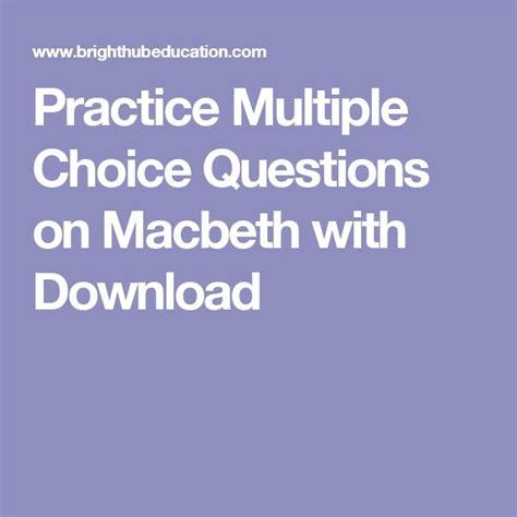 macbeth themes quiz 17 best images about wfc eng11 macbeth on pinterest
