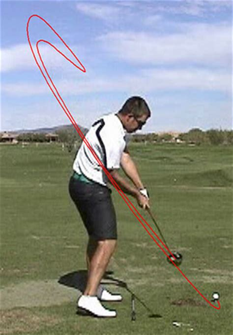 golf swing club head path how to move the arms