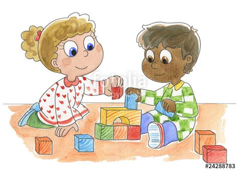 clipart bambini giocano quot bambini di diversa razza giocano quot immagini e