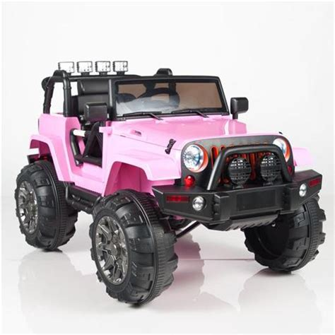 pink jeep power wheels kids 12v power pink jeep style car parental r c remote