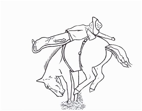 rodeo coloring pages bareback rider color page by dancing