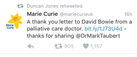 thank you letter to doctor uk david bowie s breaks silence on his with doctor