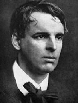 Irish poet and playwright William Butler Yeats lectures in
