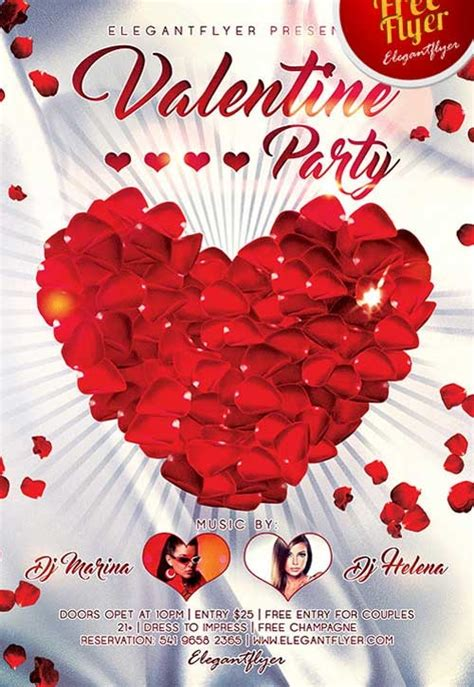 free valentine templates for photoshop free valentines day flyer templates invitation template