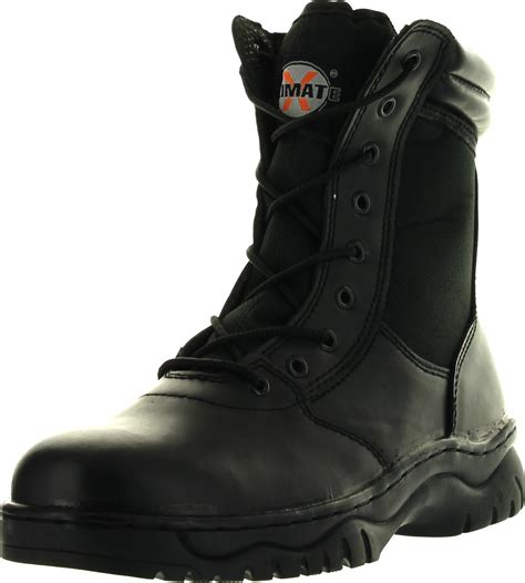 mens boots with zippers on the side mens 1009bl tactical boots black side zipper 8 quot combat