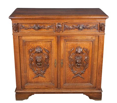 Oak Sideboard Antique antique european carved oak sideboard buffet cupboard server ebay