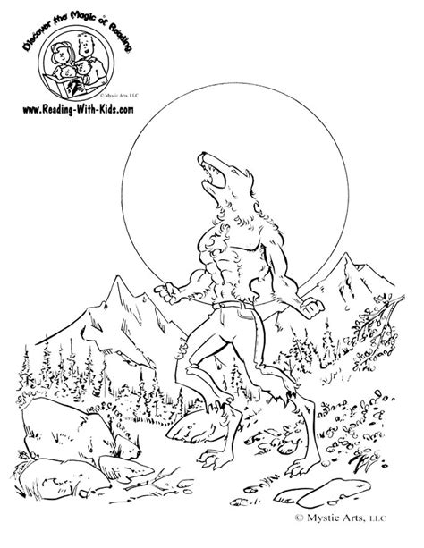 werewolf coloring pages online monster werewolf coloring pages 25553 bestofcoloring com