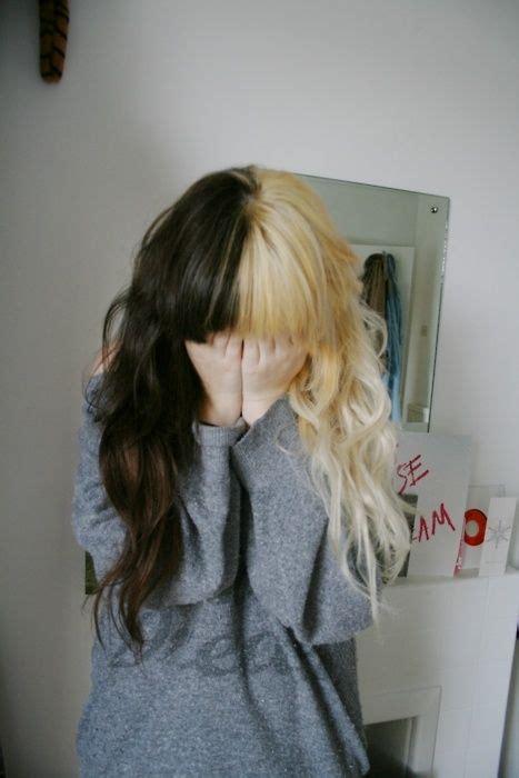 different colored hair different colored hair hair hair dyed hair half dyed