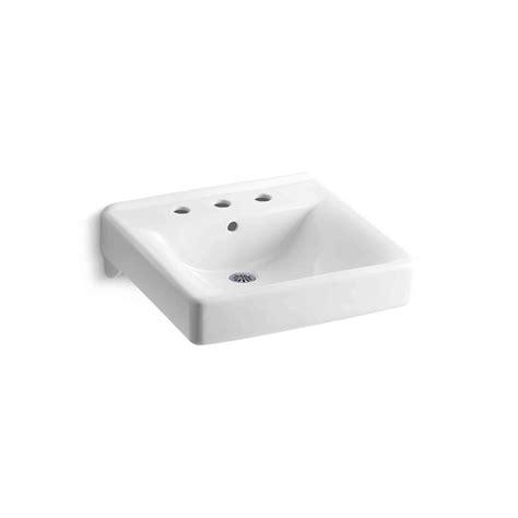 kohler bathroom sink drain kohler soho wall mount vitreous china bathroom sink in