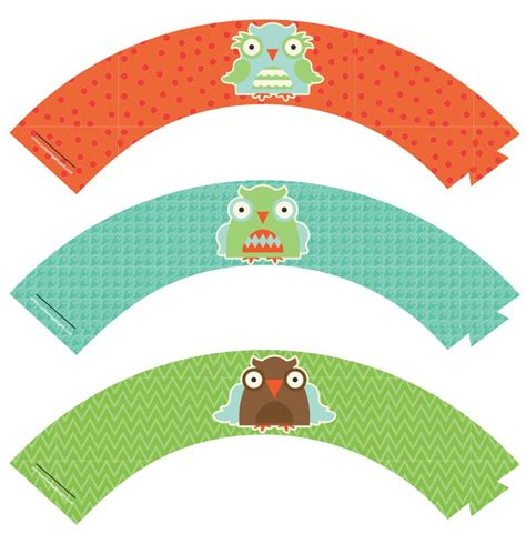 Free Printable Owl Cupcake Wrappers | party simplicity free owl party printables gift ideas