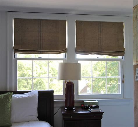 bedroom window shades coffee sack roman shades eclectic bedroom nashville