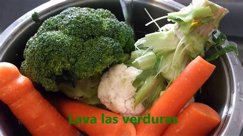 cocinar verduras al vapor como cocinar verduras al vapor sin vaporera youtube